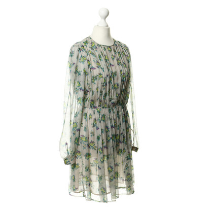 MSGM Silk dress with a floral pattern