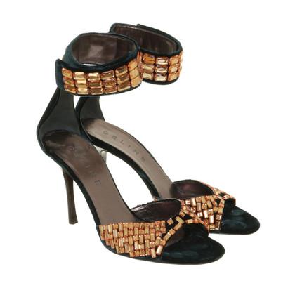 Céline Sandals with semi-precious stones