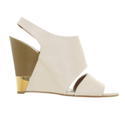 Chloé Wedges in cream