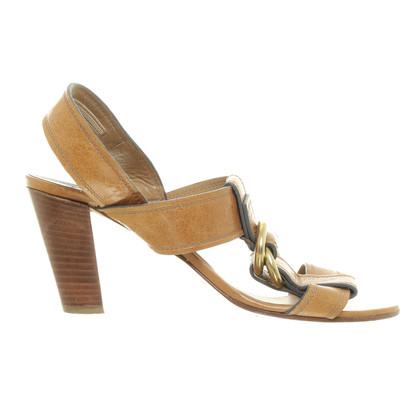 Chloé Bruin sandalen