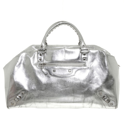 Balenciaga Weekender in aspetto metallico