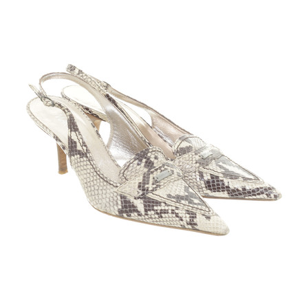 Marc Cain Slingback pumps in reptile finish