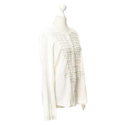 Antik Batik Bluse mit Perlenverzierung