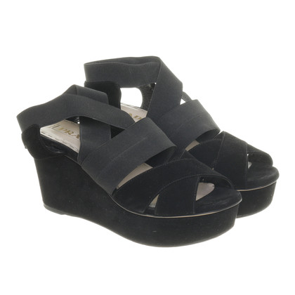 Prada Wedges aus Wildleder