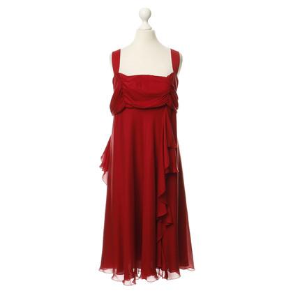 La Perla Vestito di seta rosso