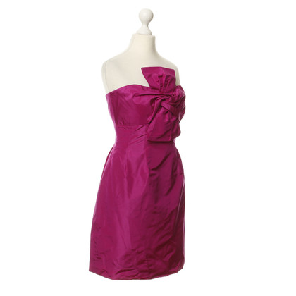 J. Crew Silk dress in Fuchsia