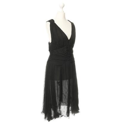 Alessandro Dell'Acqua zijden jurk in de Crêpe optica