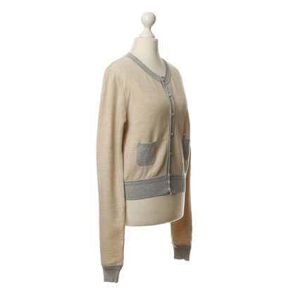 Dsquared2 Sweat jacket with knit trim