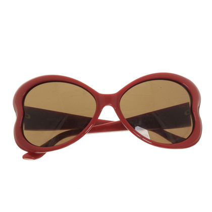 Moschino Red heart-shaped sunglasses
