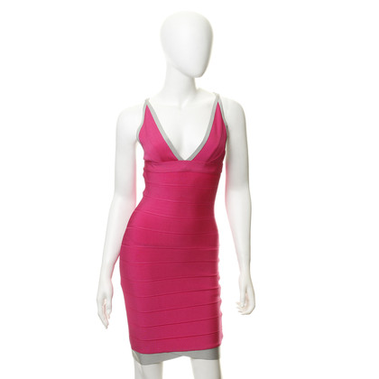 Herve Leger Bodycon jurk in roze