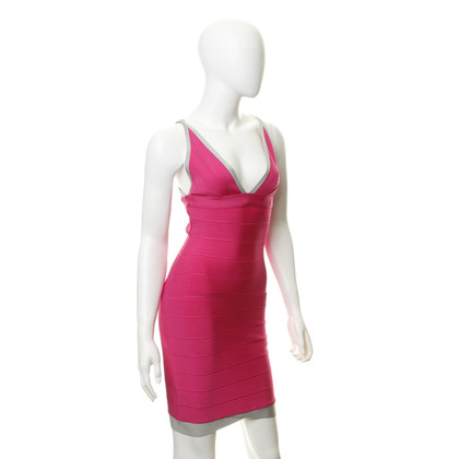 Herve Leger Bodycon dress in pink