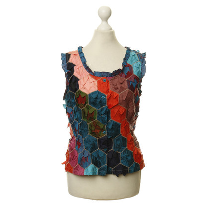 Kenzo Colorful vest with honeycomb structure
