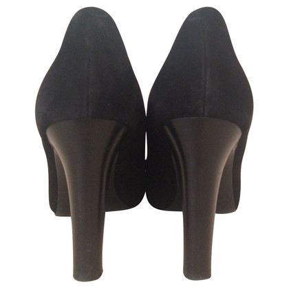 Ralph Lauren Zwarte velours pumps