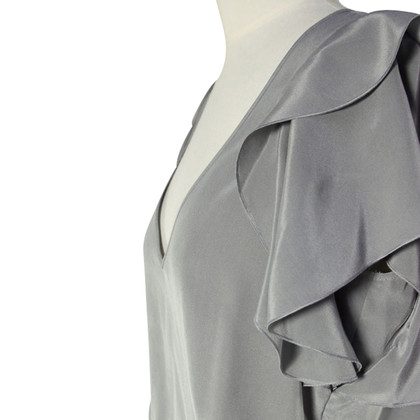 Hugo Boss Light grey silk top