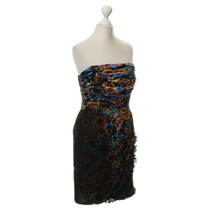 Juicy Couture Bandeau dress with velvet print