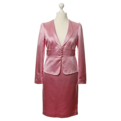 Armani Collezioni Silk costume in pink