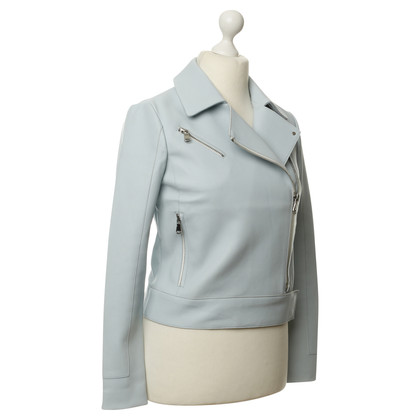 J Brand Pastel blue leather jacket