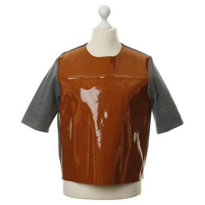 Marni for H&M Patent leather and cotton shirt