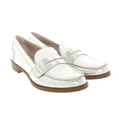 Miu Miu Zweifarbige Penny-Loafer