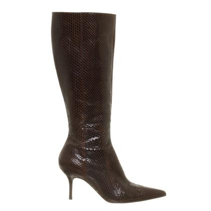 Dolce & Gabbana Stiefel aus Reptil-Leder