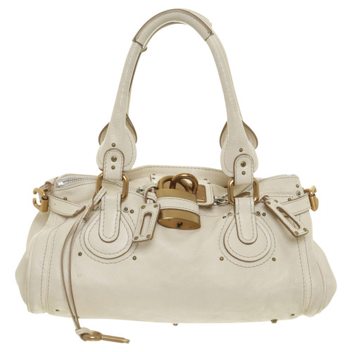 Chloé Paddington Bag In Cream