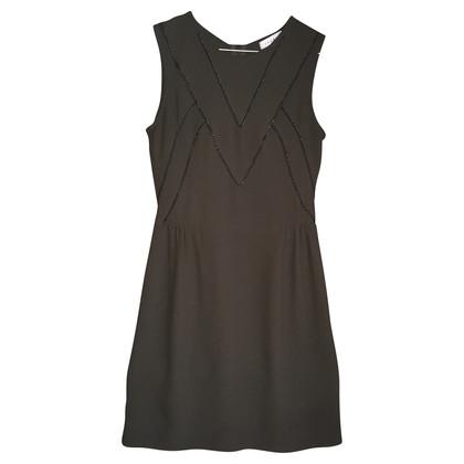 Sandro Sheath dress in olive