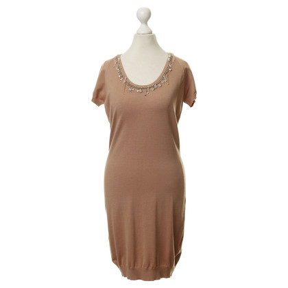Elisabetta Franchi Knit dress with chain