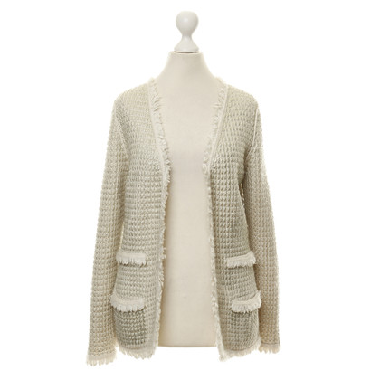 B Private Cardigan in Metallic-Creme