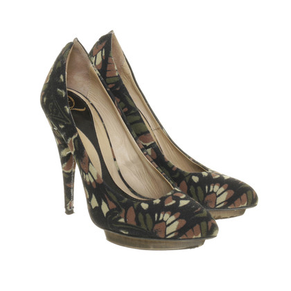 Alexander McQueen Plateau Pumps from canvas