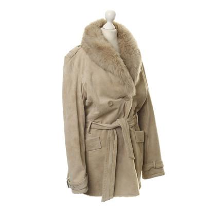 Oakwood Cappotto con collo in pelliccia