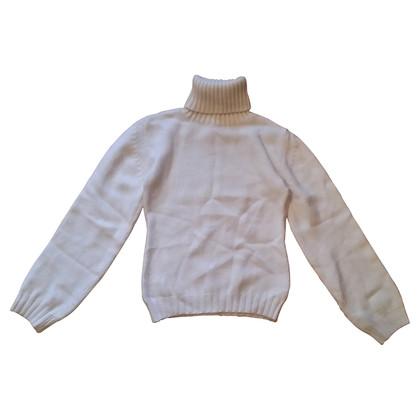 JOOP! Weißer Pullover mit Kristallen