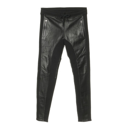 Faith Connexion Trousers with leather inserts