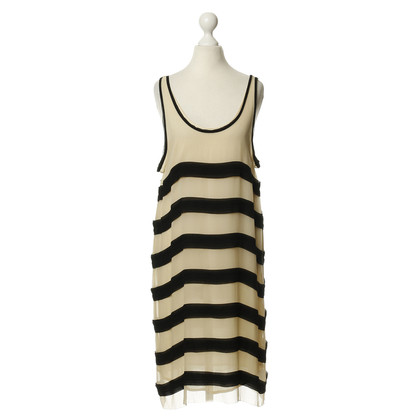 By Malene Birger Silk dress in cream and black