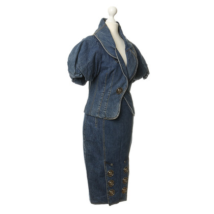 John Galliano Ensemble aus Denim