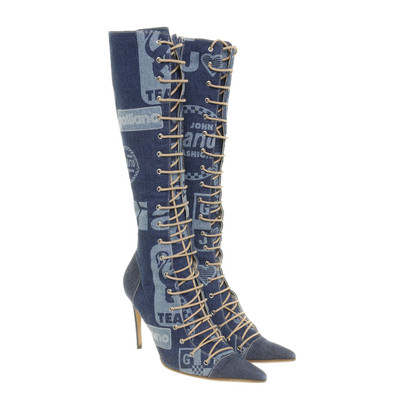 John Galliano Lace-up boot denim