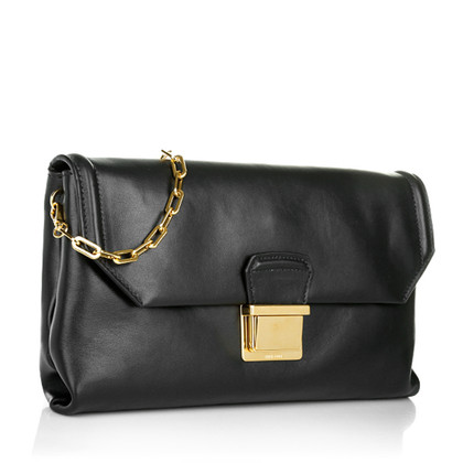 Miu Miu Soft Calf Leather Shoulder Bag Black