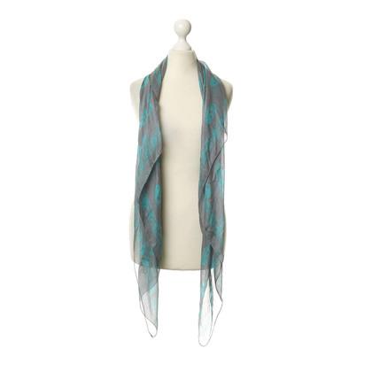 Alexander McQueen Zijden sjaal met schedel motief