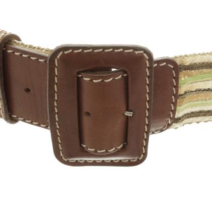 Schumacher Belt with leather buckle