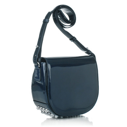 Alexander Wang Small Lia Shiny Navy Rhodium