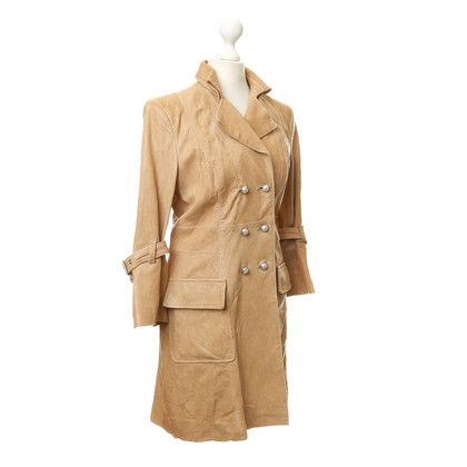 Dondup Leather coat in beige