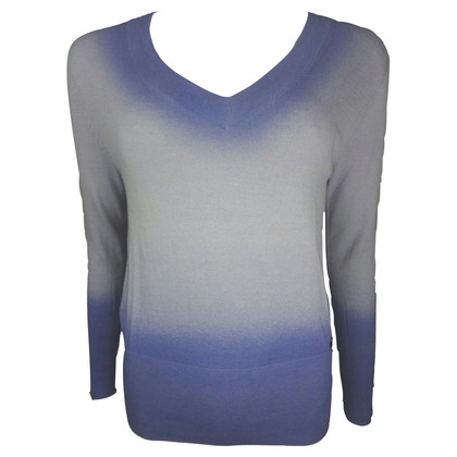 John Galliano paarse dip-dye V-hals trui