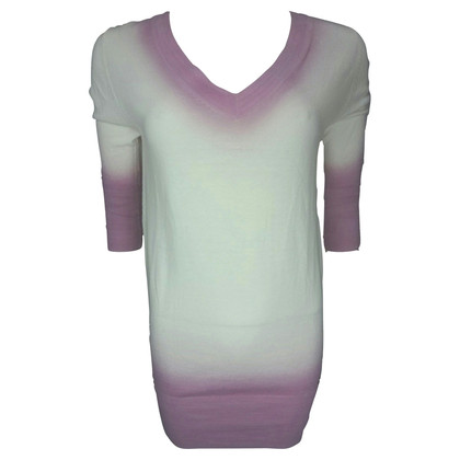 John Galliano White/Pink dip-dye tunic jumper