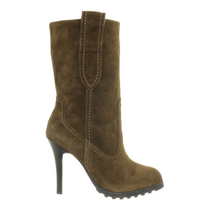 Other Designer Lola Cruz - suede boots in dark green