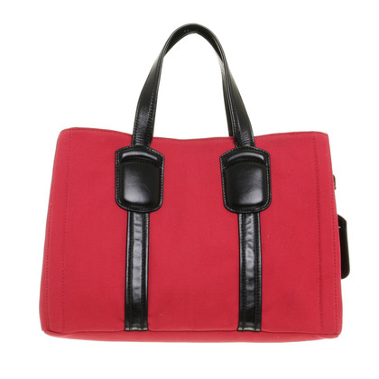 Max Mara Red Tote in canvas