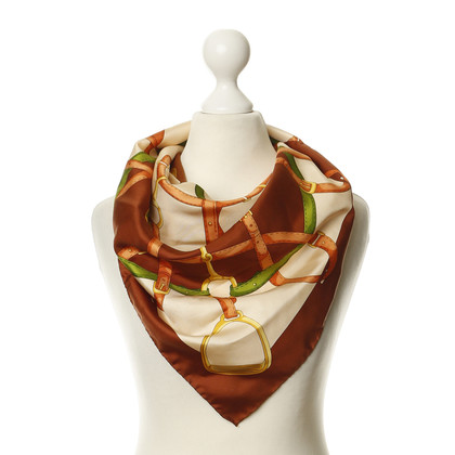 Other Designer Misery & Leufgen - silk scarf with equestrian motif