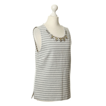 J. Crew Top with stripes and decorative stones