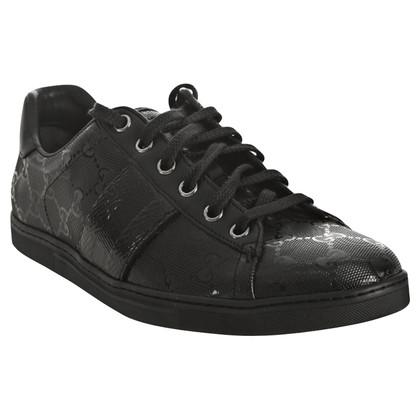 Gucci Imprimé Ace brevetto Stripe Sneakers