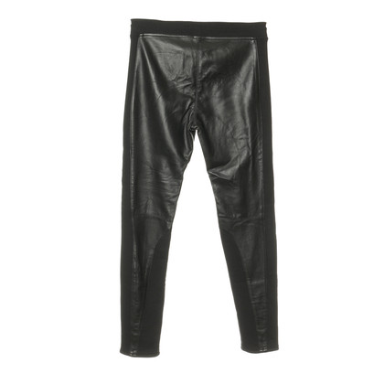 Faith Connexion Pantaloni con inserti in pelle