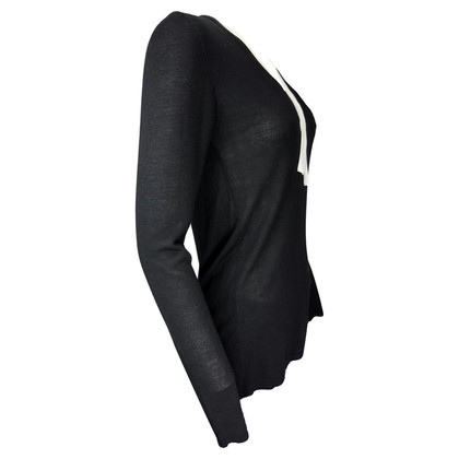 Pierre Balmain Black Jersey with White Ribbon