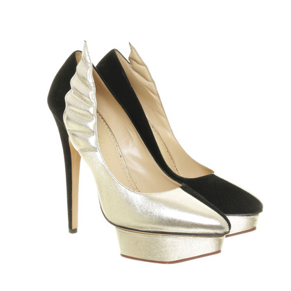 Charlotte Olympia Two tone Pumps with Wing detail